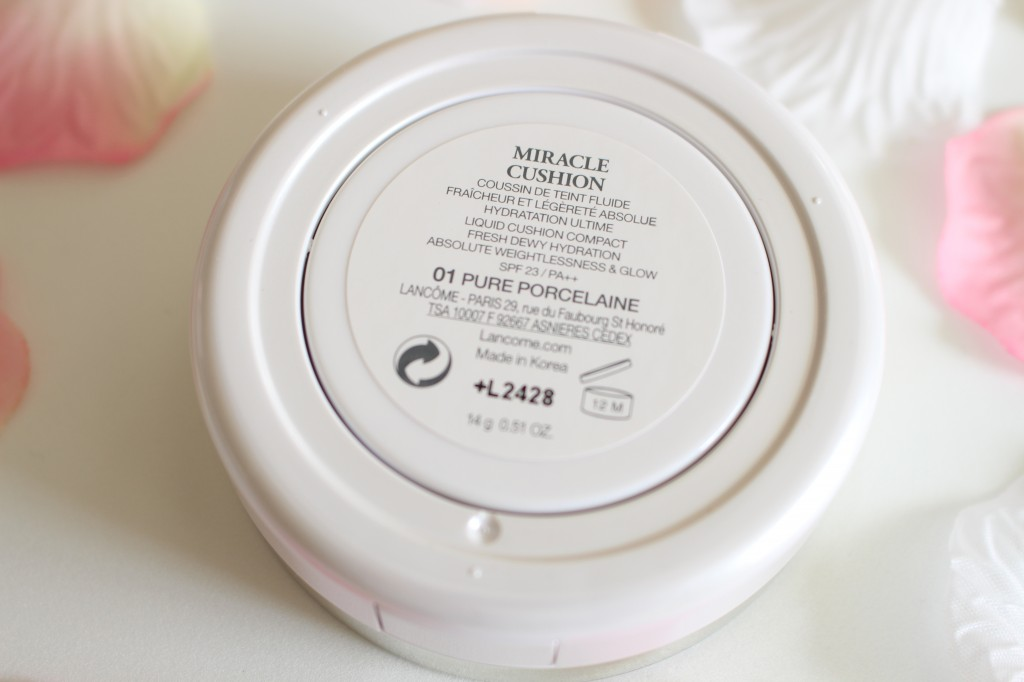 miracle cushion lancôme allyfantaisies revue test 01 porcelain